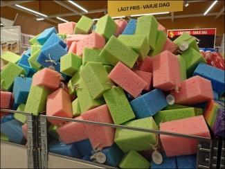 Berg av tvättsvampar