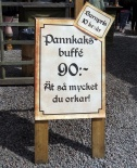 ... men det var många som åt pannkakor...