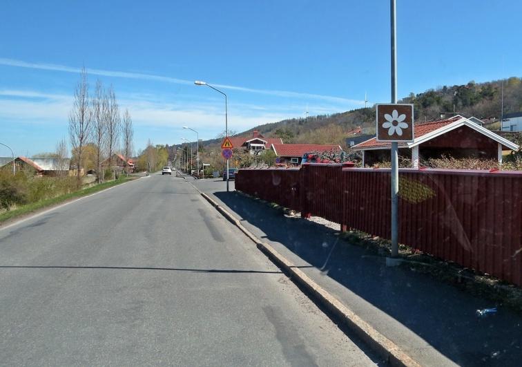 Turistvägen norrut från Gränna