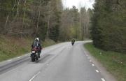 ... och en del motorcyklister...