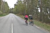 ... men många cyklister...