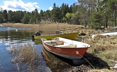 ... och ett par båtar...