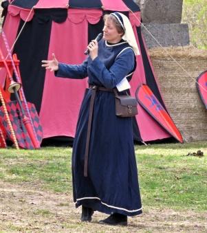 Slottsfogden Fru Margareta hälsade alla välkomna