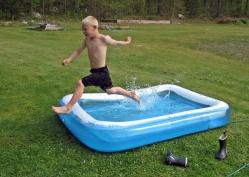 Brrr ... iskallt i vattnet!