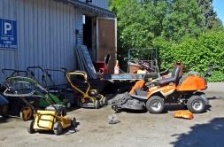 Gräsklippningsverkstaden verkade ha fullt upp!