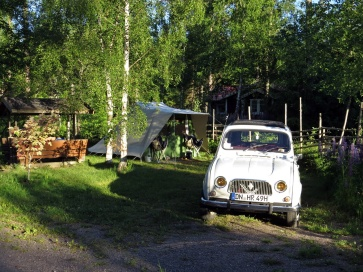 Liten bil och massor med packning hade de här tyska gästerna ...