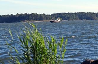 Sjön är Roxen och här passerar man om man kommer med båt på Göta kanal...