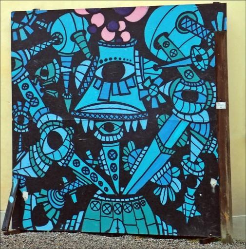 Konst på husvägg