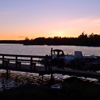 En fantastisk solnedgång ...