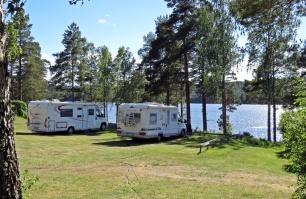 På plats vid Utsikten på Strömsnäs naturcamping