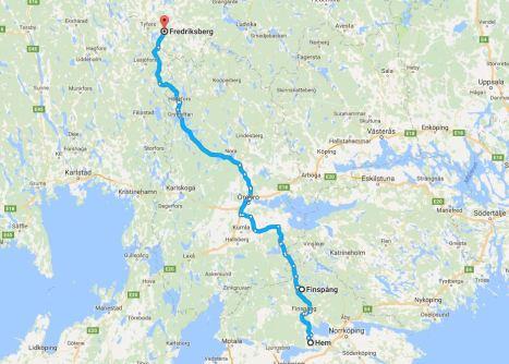 Dag 1 - till Fredriksberg