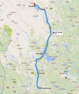 Dag två - Fredriksberg till Mosätt