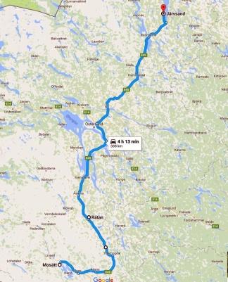 Dag 3 Mosätt till Järvsand, Strömsund