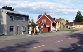 Bensinmack och mataffär - det viktigaste i en liten by på landet...
