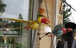 Kul fåglar som rörde på vingarna i den lätta vinden :)