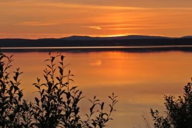 En fantastisk solnedgång