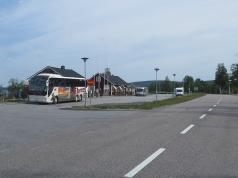 Rastplats, information och toaletter vid Porjus