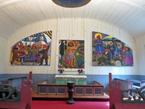 Altaret med sina speciella tavlor