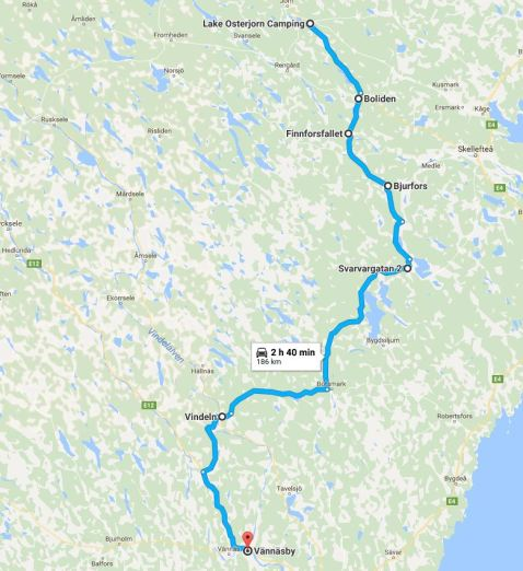 Dag 12 Österjörns camping - Vännäsby