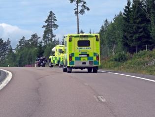 Passerade en trafikolycka ... tursamt den enda som vi såg under hela resan :)