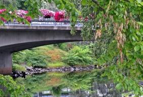 Vackert på och under bron...