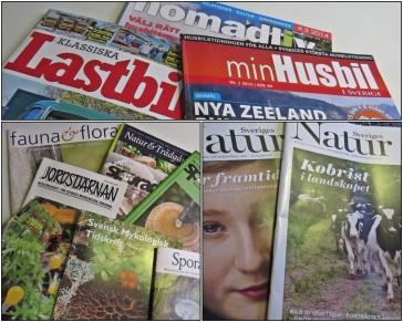 En del tidskrifter blir det.