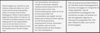 Fakta om det som idag är Klostermuseun