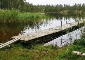 Här vid Strussjön väntade jag på att de skulle komma ...