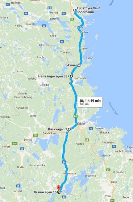 Dag 15 Söderhamn - Gysinge