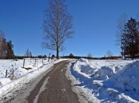Härligt väder med klarblå himmel!