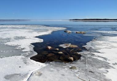 28 mars. Isen är på väg att försvinna ...