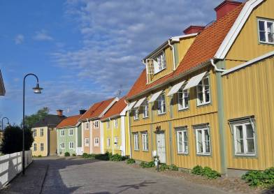 Fina hus vid Munkbrogatan