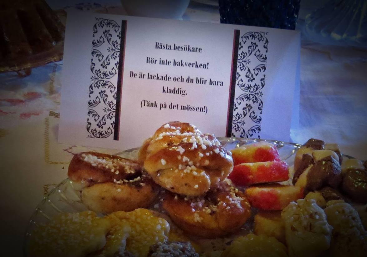 Gällde lyckligtvis bara kakorna i museet och inte i caféet :)