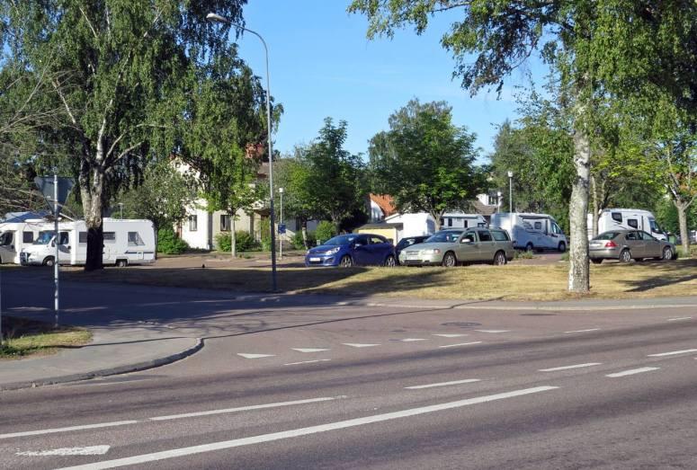 17 juli På plats i Sunne ... bra parkering mitt i centrum.