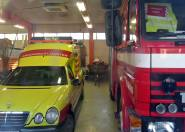 ... och ambulans.