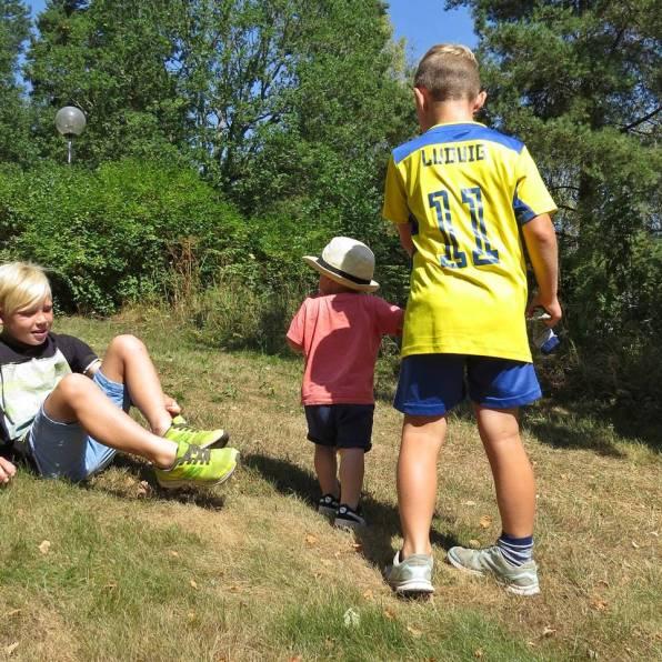 Tre killar på besök :)