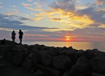 31 juli, Hästholmen. Fin solnedgång.