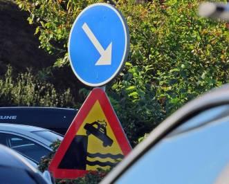 Håll till höger ... där kan bilen svalka sig!