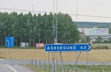 ... sedan mot Askersund ...