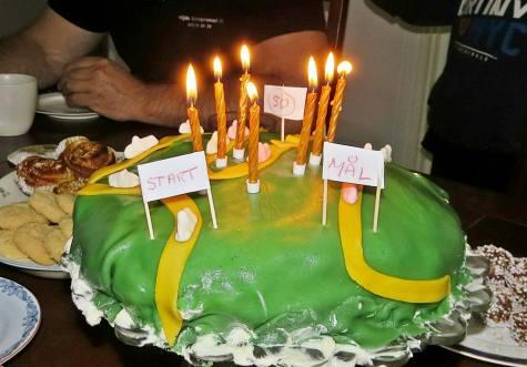 Födelsedagstårtan :)