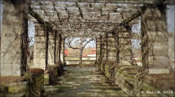 T.o.m. en pergola i en klosterruin kan vara en tunnel i fantasin.