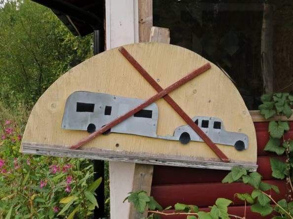 ingen bra väg för husvagnar ...