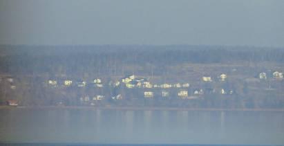 Zoomade och här ser man en del av husen.