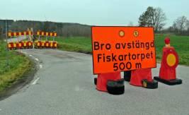 16 november. För en vecka sen gick trafiken här ... nu får man inte ens gå över!