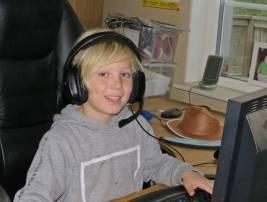 Casper gillar Minecraft ...