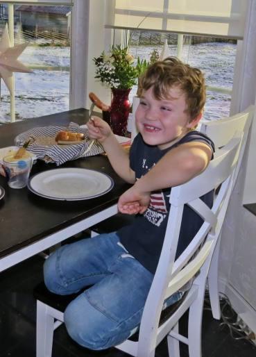Ludvig gillade också maten.