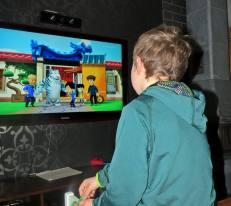 Ludvig hittade ett kul program på tv ...