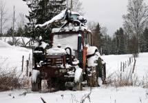 Den gamla traktorn.