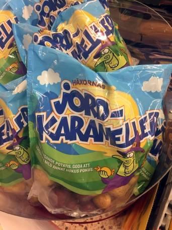 Jordkarameller!? Hm - ovanligt dyr potatis i miniformat! Haha ...