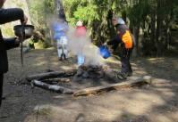 Elden släcktes noggrant innan vi lämnade platsen